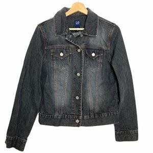 Gap Dark Grey Denim Jacket Y2K